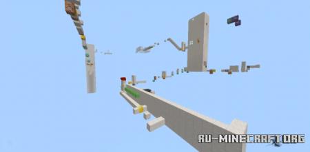 Скачать UnSanity Parkour Course для Minecraft PE