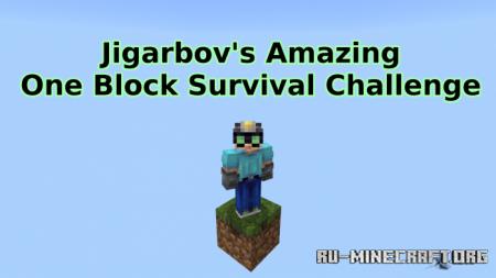 Скачать Jigarbov's Amazing One Block Survival Challenge для Minecraft PE