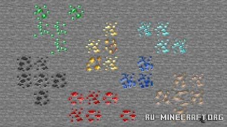 Скачать Variated Ores для Minecraft PE 1.16