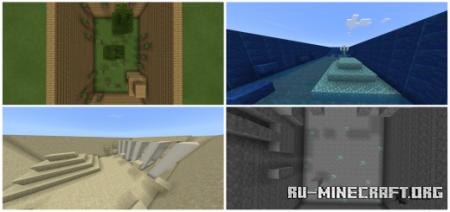 Скачать Parkour Biomes by Cloaktraw для Minecraft PE