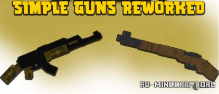 Скачать Simple Guns Reworked для Minecraft 1.16.5