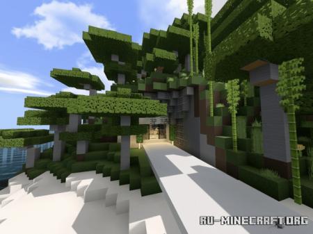 Скачать Island Mansion - Modern House - Secret Bunker для Minecraft PE