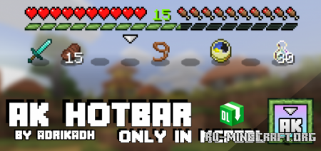 Скачать AK Hotbar для Minecraft PE 1.16