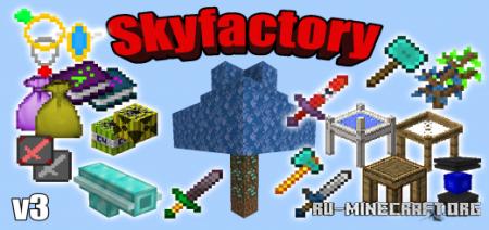 Скачать Skyfactory V3 для Minecraft PE