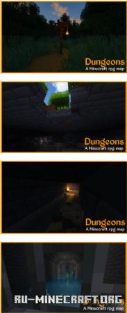 Скачать DUNGEONS - Minecraft RPG для Minecraft PE