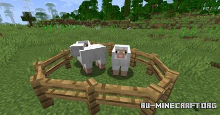 Скачать Diagonal Fences для Minecraft 1.16.5