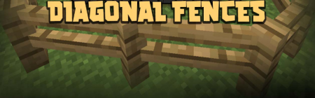 Скачать Diagonal Fences для Minecraft 1.16.4