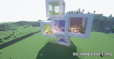 Скачать Cube House by Bruh1234567890 для Minecraft