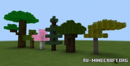 Скачать Fused's Lush Leaves - Bushy Leaves для Minecraft PE 1.14