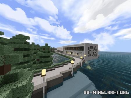 Скачать Cedar Estates - Modern Mansion для Minecraft PE