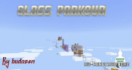 Скачать Glass Parkour by budazen для Minecraft PE
