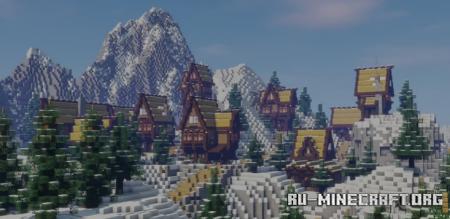 Скачать Moutain Village by sebakchlebak для Minecraft