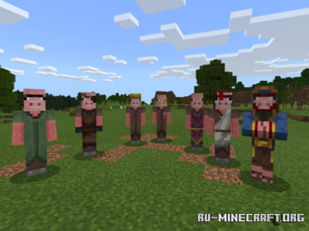 Скачать Pigman Villagers для Minecraft PE 1.16