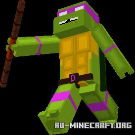 Скачать Teenage Mutant Ninja Turtles для Minecraft PE 1.16