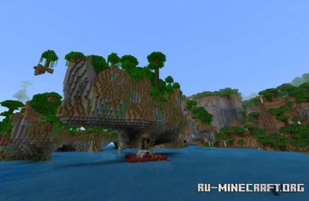 Скачать Amplified Biomes для Minecraft PE 1.16