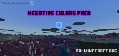 Скачать Negative Colors Pack для Minecraft PE 1.16