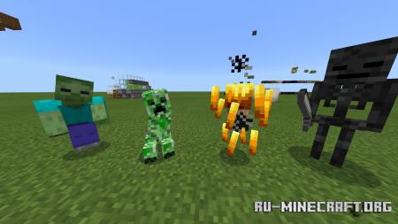 Скачать Mobs Plus для Minecraft PE 1.16