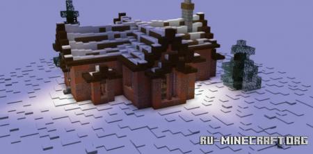 Скачать Small Cozy Winter Cabin для Minecraft