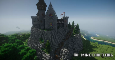 Скачать Mountain Castle by Tyete2017 для Minecraft