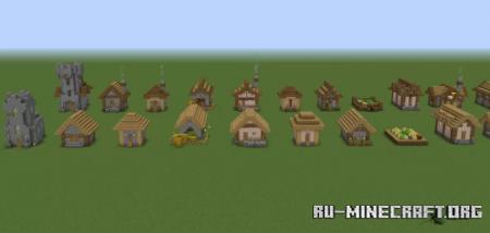 Скачать Every Village houses Redesigned для Minecraft