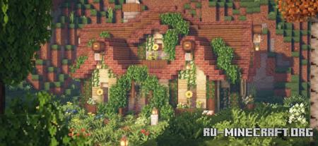 Скачать Overgrown fairytale cottage для Minecraft