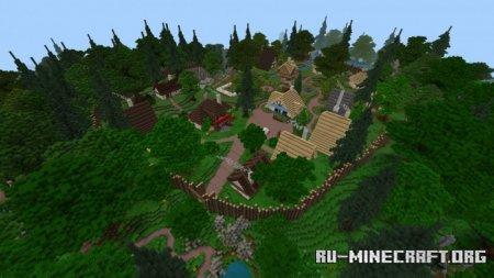 Скачать Village D'aterix для Minecraft PE