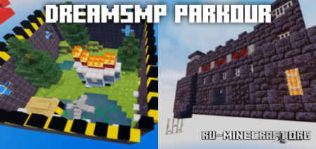 Скачать DreamSMP Parkour Map для Minecraft PE