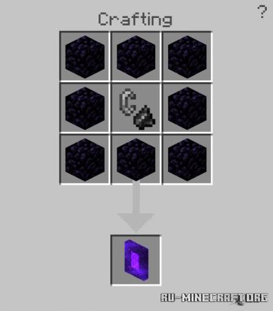 Скачать Crafting Portals для Minecraft PE 1.16