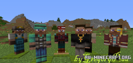 Скачать Steve Villagers by GregoryPesa для Minecraft 1.16