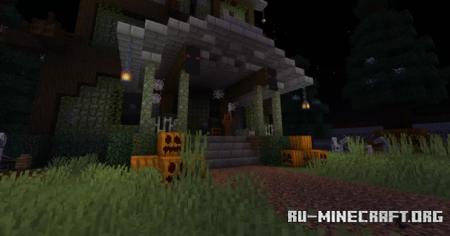 Скачать Spooky Mansion Halloween для Minecraft
