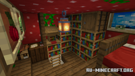 Скачать Mysterious Mushroom House для Minecraft PE