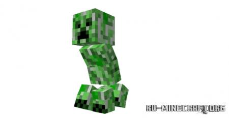 Скачать New Creeper Animations для Minecraft PE 1.16