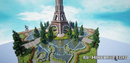 Скачать HCF Spawn - Paris themed для Minecraft