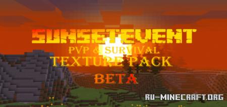 Скачать SunSetEvent PvP & Survival Vanilla для Minecraft PE 1.16
