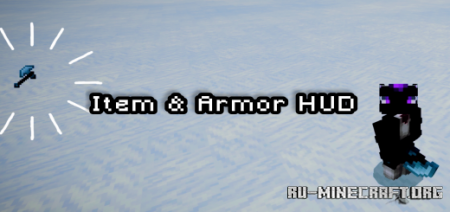 Скачать Armor & Item Hud by Drakonx для Minecraft PE 1.16