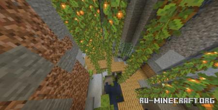 Скачать Underground Town by GreasyGrandmaGunz для Minecraft