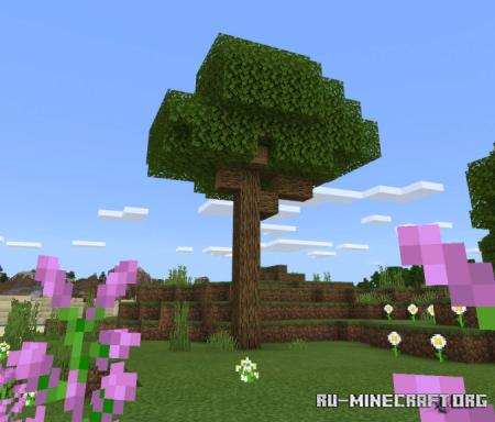 Скачать Natural Trees для Minecraft PE 1.16