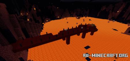 Скачать Lands of Desolation 2000x2000 Custom Terrain (5 Dungeons) для Minecraft PE