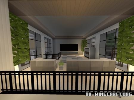 Скачать Modern House Five - Quartz Mansion для Minecraft PE