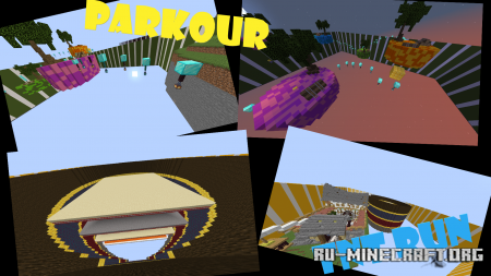 Скачать Parkour Minigames для Minecraft