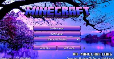 Скачать Vaporwave Main Menu для Minecraft 1.16