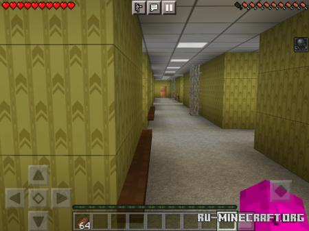 Скачать The Backrooms Horror Map 2 для Minecraft PE