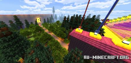 Скачать The Night Glowing Arena V4 (Caves&Cliffs update) для Minecraft PE