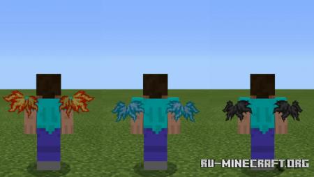 Скачать Animated Wings Cosmetic V3 для Minecraft PE 1.16