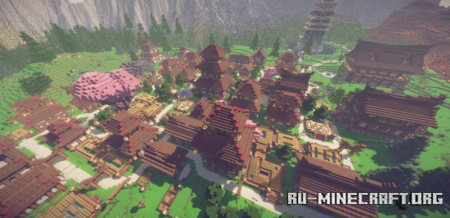 Скачать Japanese Village by Ferendum для Minecraft