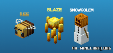 Скачать Custom Mobs Textures Skins для Minecraft PE 1.16