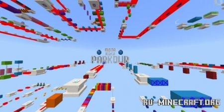 Скачать Mega Easy Parkour для Minecraft PE