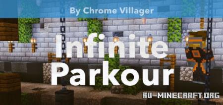 Скачать Infinite Parkour by Chrome Villager для Minecraft PE