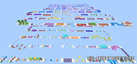 Скачать Rainbow Parkour by 3 little brothers для Minecraft PE