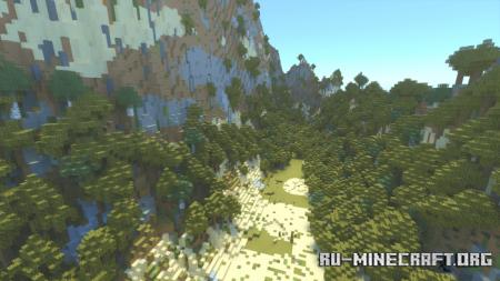 Скачать Keyyards Custom Valley Terrain для Minecraft PE